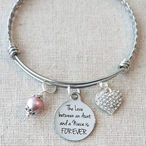 AUNT NIECE Gift The Love Between An Aunt And A Niece Is FOREVER Bracelet