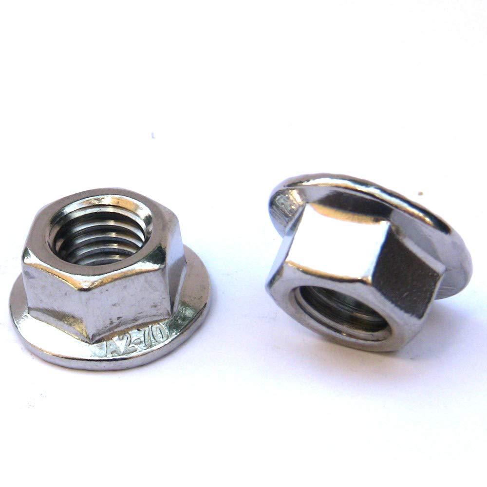 Flanschmuttern mit Sperrverzahnung M3-M12 Industriequalit/ät M 6 50 Stk