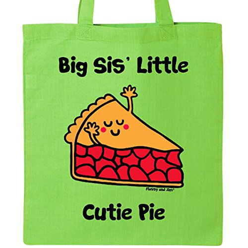 Inktastic - Big Sis' little Cutie Pie Tote Bag Lime Green - Flossy And Jim