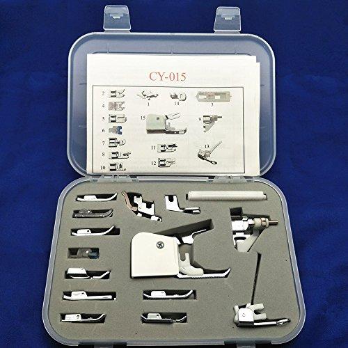 YEQIN Universal 15 Piece Sewing Machine Presser Walking Feet