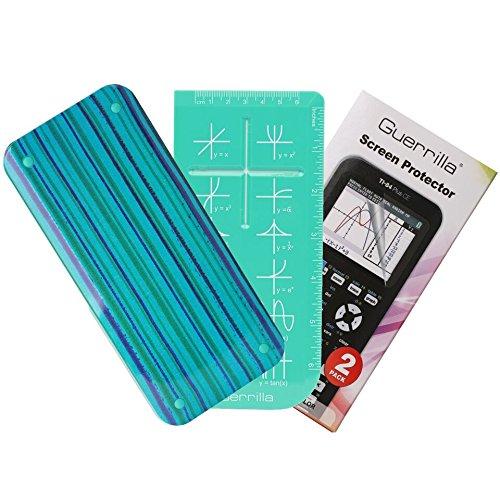 Guerrilla TI84CEBLUESTRIPE Graphing Calculator, Blue Stripe