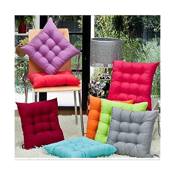AGDLLYD Cuscini di Seduta Cuscino Sedia 40x40x5cm per Interno ed Esterno - Molti Colori - Imbottitura Spessa Cuscino… 2 spesavip