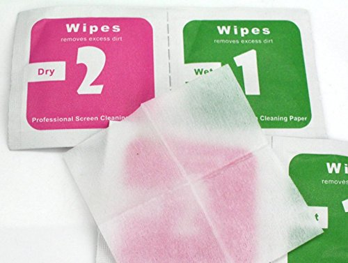 Pre-Moistened Glass Lens Cleaning Wipes by Co-Crea for Nano Screen Protector, Cell Phone Screen,Eyeglass and Electronic-Individually Wrapped Packets-Streak Free, Anti-Fog - Telephone Premoistened Wipes
