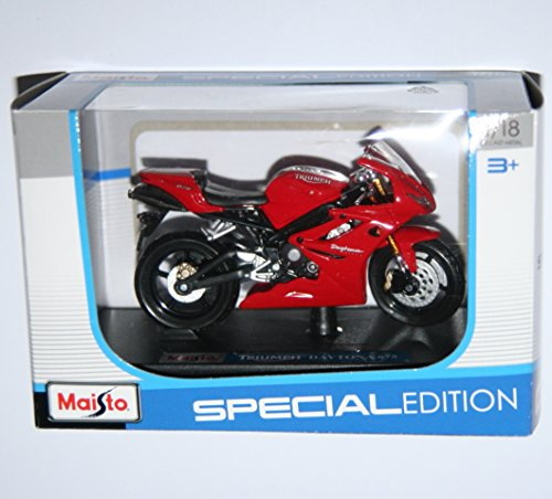 Maisto Triumph Daytona 675 Red Motorcycle Die Cast Model Scale 1:18