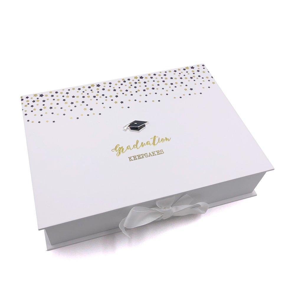 ukgiftstoreonline Graduation Gift Keepsake Box With Raised Hat and Stars