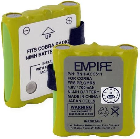 Compatible with Cobra FA-BP Two-Way Radio Battery 700mAh 4.8V NI-MH Replacement for Cobra FA-BP Battery 2 Pack