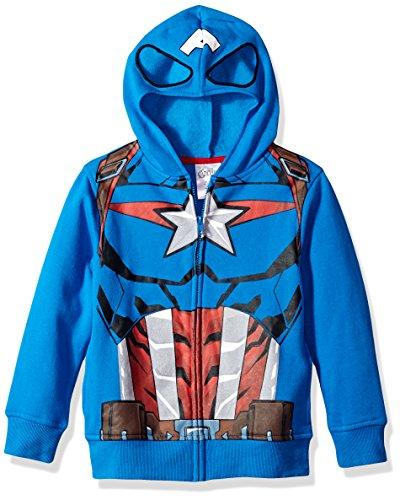Marvel Big Boys' Captain America Costume Hoodie, blue, Medium-12
