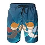 Man Vs Robot Arm Wrestling Fight Men's Summer Casual Shorts Casual Classic Fit Short Pants With Pockets For Running