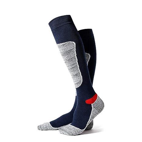 JUN GUANG 2Pcs Lana Esquí Calcetines Térmicos Invierno Calcetines Esquí Calcetines para Esquiar Anti-Bacteriano