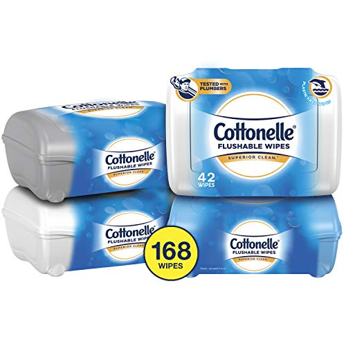 Cottonelle Flushable Wet Wipes, 42 Wipes per Pack, Pack of ()