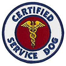 "CERTIFIED SERVICE DOG Sew-On Embroidered Patch - 3"" Diameter"