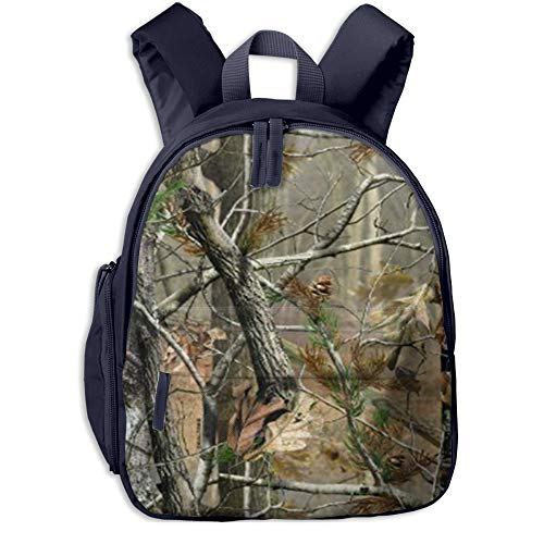 Woodland Camouflage Hunting Children's Lightweight Canvas Travel Backpacks School Book Bag -