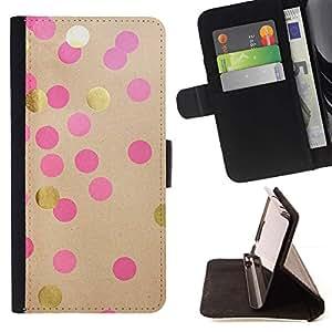For Sony Xperia Z1 Compact / Z1 Mini (Not Z1) D5503 Case , Pink Paper lunar de Brown- la tarjeta de Crédito Slots PU Funda de cuero Monedero caso cubierta de piel
