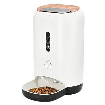 MKHDD Alimentador automático de Mascotas Gato/Perro Dispensador de Comida 5L de Almacenamiento con cámara