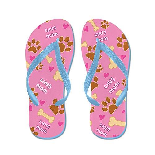 CafePress Chug Mom Gift Flip Flops - Flip Flops, Funny Thong Sandals, Beach Sandals Caribbean Blue