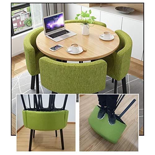 Bords- och stol-set matsal, matsalsset 80 cm små runda picknickbord tyg säte trädgårdsmöbler kombinationsset hem kontor kök kaffe utomhus trädgård hotell snabb matbutik