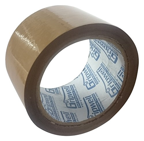 Gripwell 72BRH50 BOPP Self Adhesive Tape, 72MM, 50 Meter – Very High Adhesive, (Pack of 4)