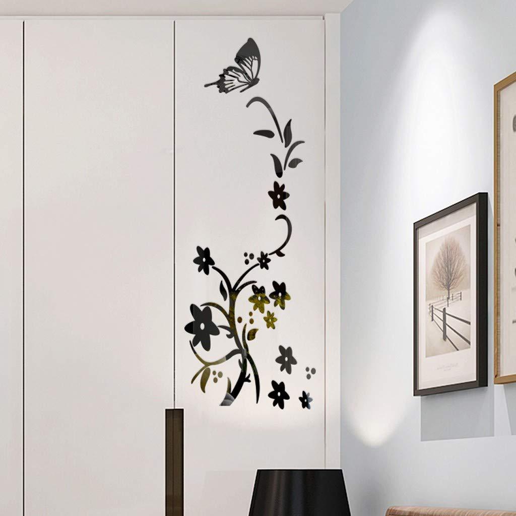 YWLINK 3D DIY Flor Forma De Mariposa AcríLico Etiqueta De La ...