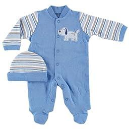 Luvable Friends Preemie Sleep N Play & Cap, Blue