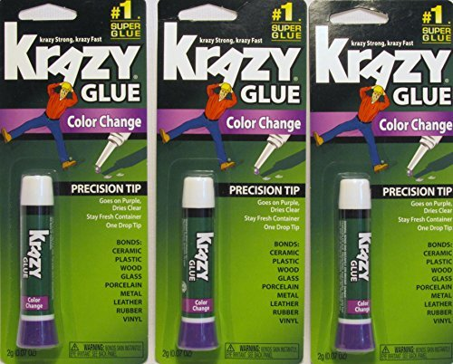 Krazy Glue KG58848R Instant Crazy Glue Color Change Formula Tube 0.07-Ounce -  Elmer's Products