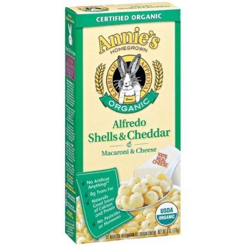 Organic Mac Cheese Alfredo Shells Cheddar 3 Pack (6 Oz Ea) by Annie's Homegrown