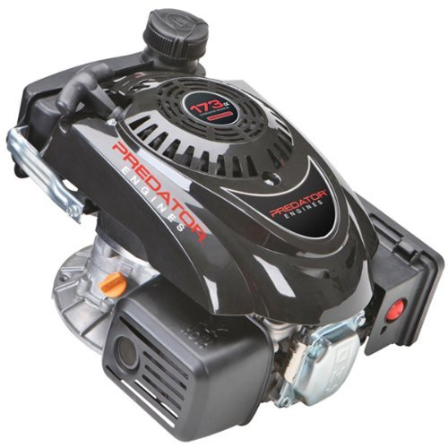 Predator 5.5 HP 173cc OHV Vertical Shaft Gas Engine - Certified for California; Fuel Shut Off and Recoil - Shaft Predator One