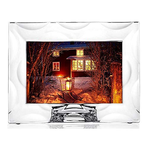 The WAVE 4x6 fine crystal frame by Orrefors Sweden - 4x6