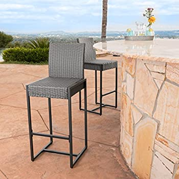 Amazon Com Conrad Patio Furniture Outdoor Wicker Bar