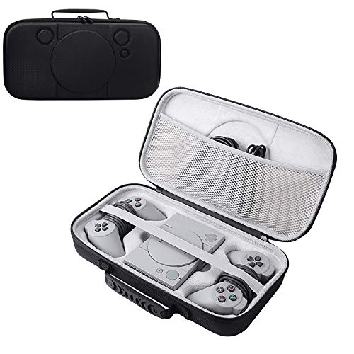 2019 Newest Hard Case Storage Bag fit for Sony Playstation Classic Mini Console, 2 Controllers and Other Accessories (Sega Genesis Carrying Case)