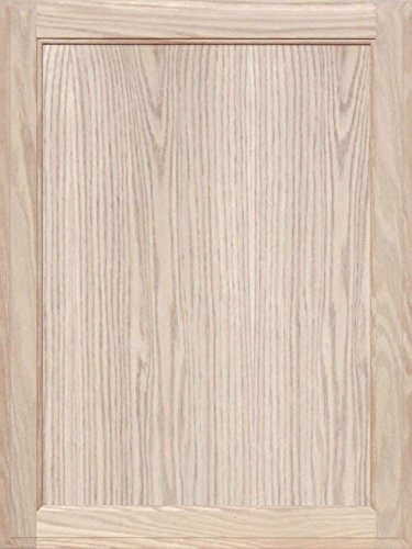 unfinished oak square flat panel cabinet door by kendor 28h x 21w