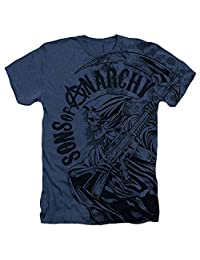 Sons Of Anarchy Reaper Skulls Mens Heather Shirt