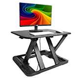 FEZIBO Standing Desk Converter, Height Adjustable Sit Stand Desk Riser, 29'' Ergonomic Laptop Computer Workstation