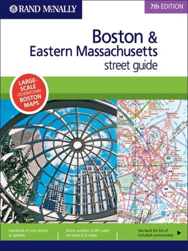 Rand McNally 7th Edition Boston & Eastern Massachusetts street - Market Boston Ma Street