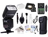 Opteka I-TTL AF Flash (IF-980) with Stand + Pouch + Diffuser + Grid + Batteries + Care Kit for Nikon D4S, DF, D4, D3X, D810, D750, D610, D7200, D7100, D5500, D5300, D5200, D3300, D3200 Digital Cameras