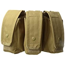Fox Outdoor Products AR-15/AK-47 Triple Mag Pouch Coyote