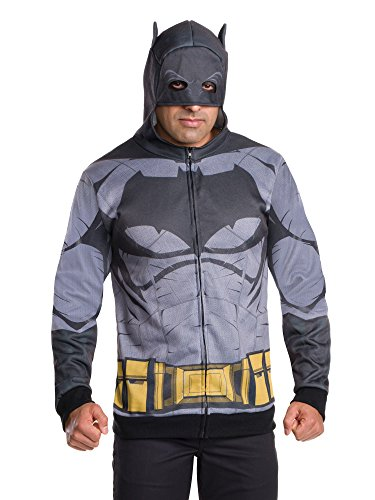 Rubie's Men's Batman v Superman: Dawn of Justice Batman Costume Hoodie, Multi, One -