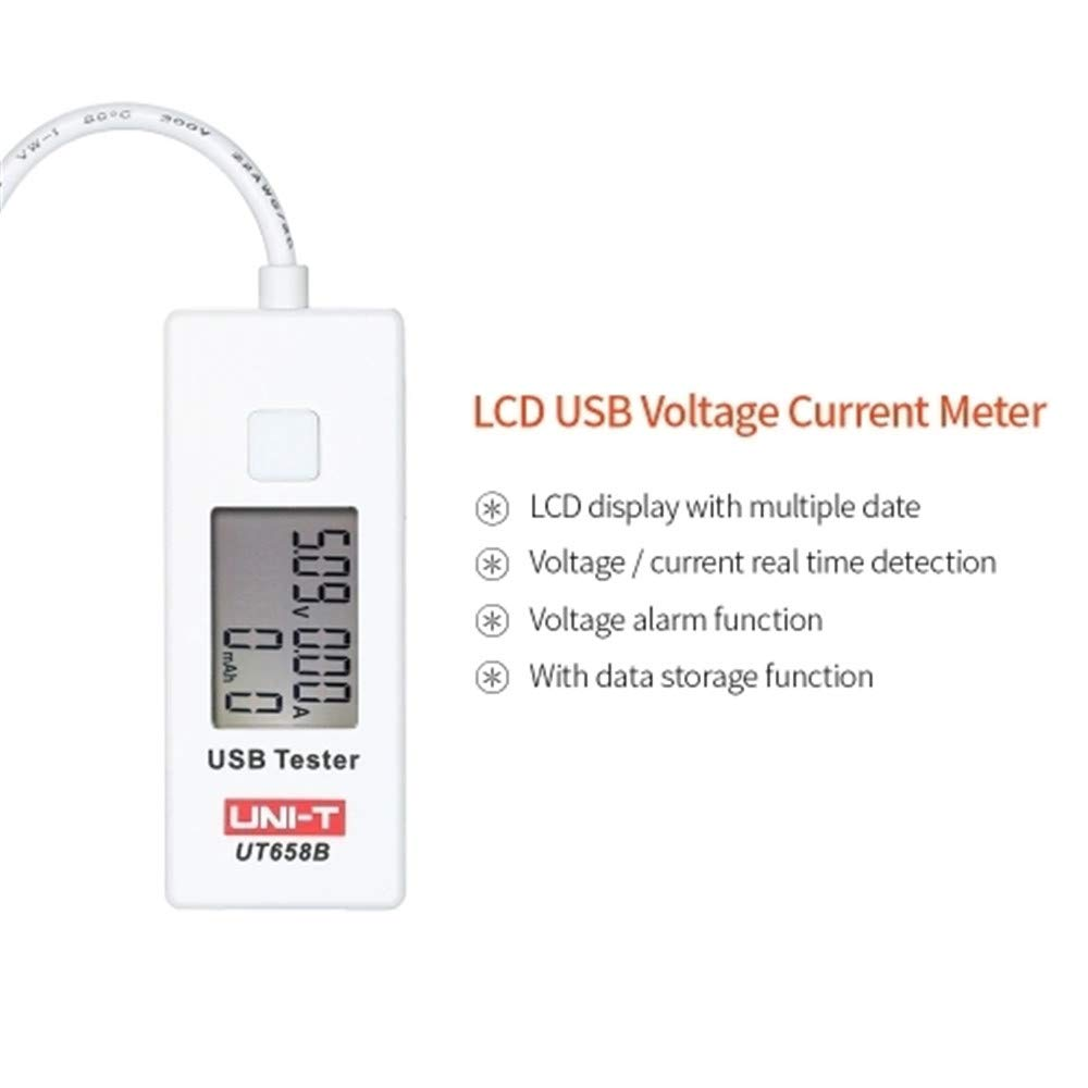 Uni T Ut658b Usb Tester Voltmeter Ammeter Digital Lcd Voltage And Current Monitor Meter Capacity 9v 3a With Backlight
