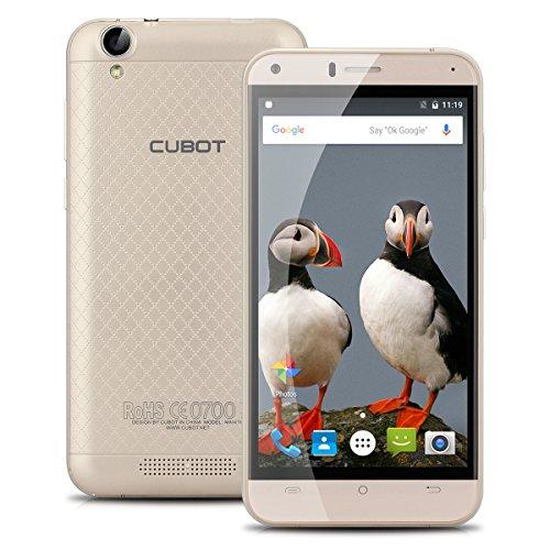 Cubot manito 5.0 inch smartphone 1280* 720IPS HD 4G mt6737Quad-Core 1.3GHz 3GB RAM + 16gb Rome Dual SIM 13.0MP Achterste camera mobiele telefoon WIFI Bluetooth OTG, Goud