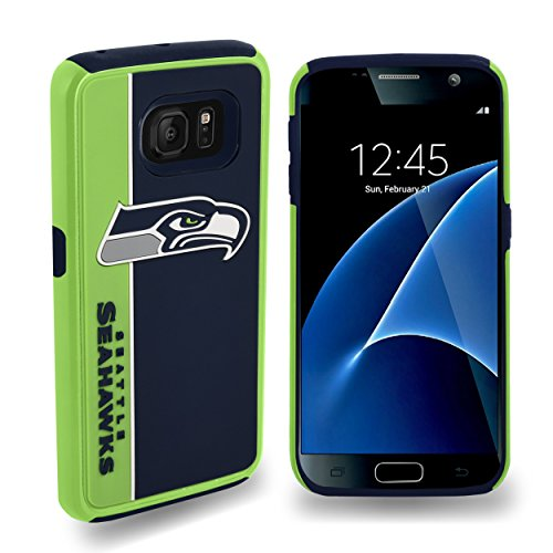 Forever Collectibles Dual Hybrid BOLD Series Case for Samsung Galaxy S7 - NFL Seattle Seahawks