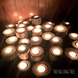 Real Log Tea Light Candle Holders by The Falling Tree. 10 Sets Of 3 Tier Home Décor Or Rustic Country Wedding Bulk
