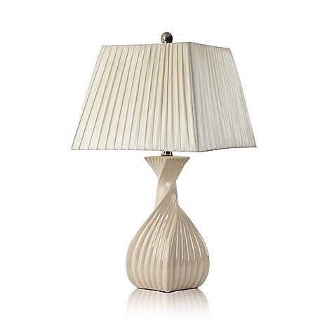 MMWYC Lámpara de Mesa de cerámica Lámpara de mesilla de ...