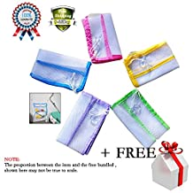 Baby Bath Bathtub Toy Mesh Storage Bag Organizer Cleaning Laundry Suction Bathroom Stuff Tidy Net 5 Pack