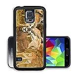 Luxlady Premium Samsung Galaxy S5 Aluminium Snap Case blackbuck or Antilope cervicapra IMAGE ID 7257804
