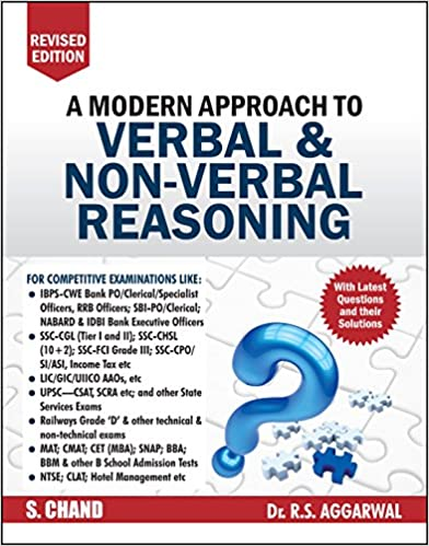 A Modern Approach to Verbal & Non-Verbal Reasoning (R.S. Agarwal)