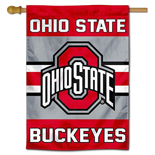 Ohio State Buckeyes Two Sided and Double Sided House Flag ()