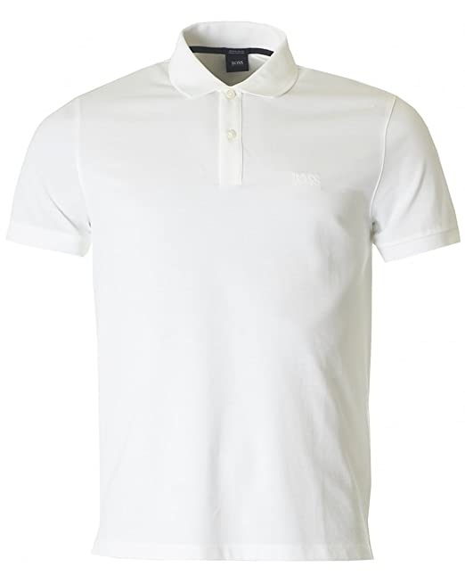 Polo De Pallas Hugo Boss Jefe Blanco Medium: Amazon.es: Ropa y ...