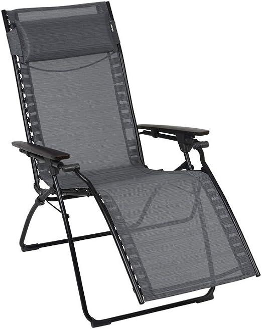 LAFUMA Chaise Longue de Relaxation Pliante Multiposition ...