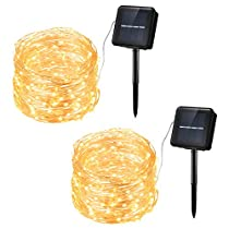 Habor String Lights, 33ft 100 LED Solar String Lights Outdoor for Wall, Garden, Lawn, Patio, Wedding, Party, Indoor, Outdoor Decorations