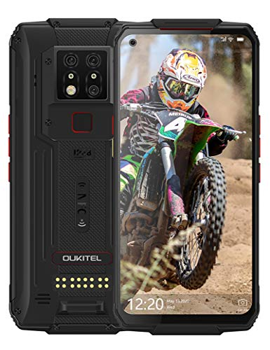 Rugged Cell Phone Unlocked, OUKITEL WP7 Smartphone 8GB+128GB 48MP Night Vision Camera 8000mAh Android 9.0 Dual Sim 4G IP68 Waterproof 6.53 Inch FHD+ Support NFC Face Fingerprint Unlock (2020)