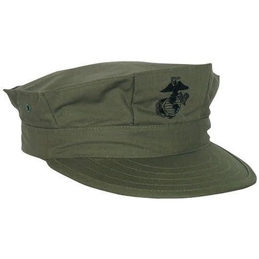 Amazon.com  USGI USMC Utility Cap Cotton Sateen OD Green Size XS ... f2479caf27d7